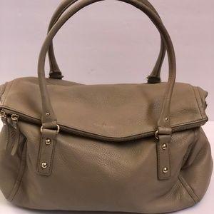 Kate Spade Handbag Leather Satchel Fold Over Large